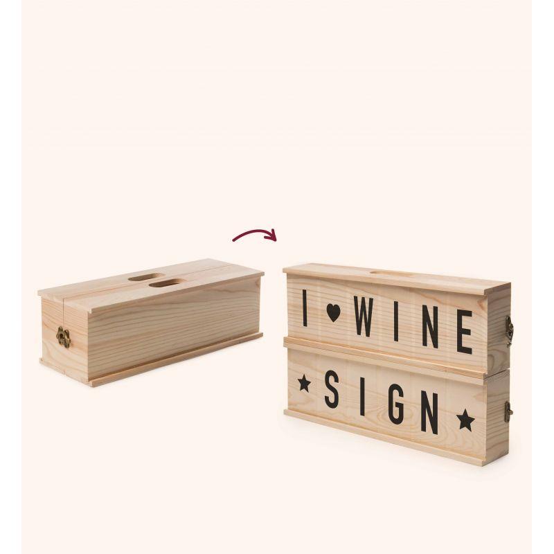 Wine Sign Cassetta vino design