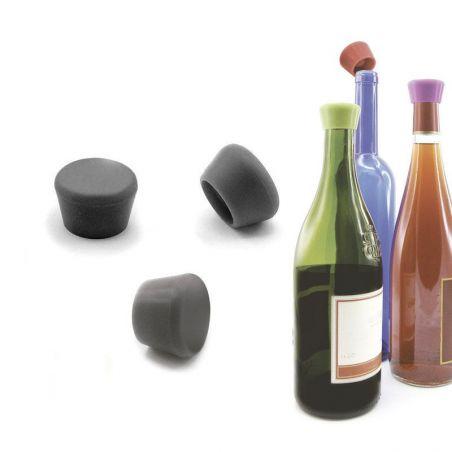 Stopper vino Pulltex Silicone - nero 2