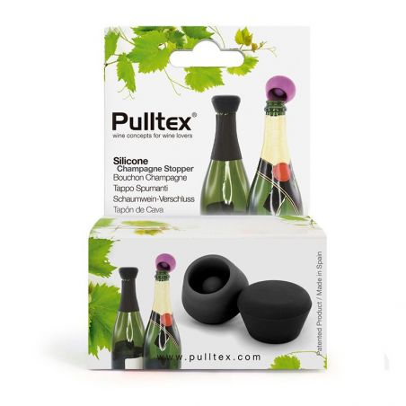 Stopper Champagne Pulltex - silicone - nero - packaging