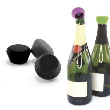 Tappo champagne Pulltex - silicone - nero