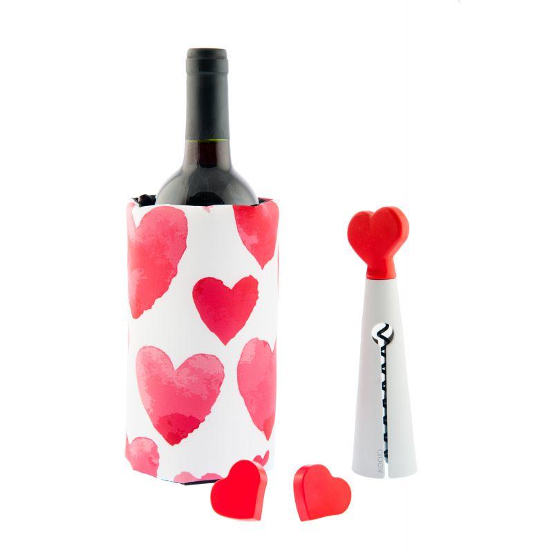 Kit Accessori Vino Love - bianco
