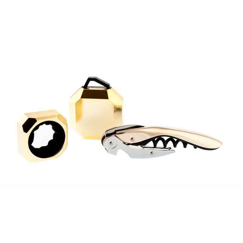 Set Wine Deluxe Gold - set accessori vino