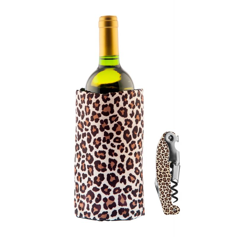 Set Full Print Leopard - Fascia Refrigerante + Cavatappi