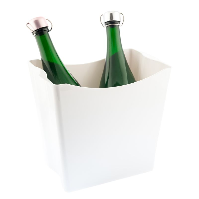 Twins Secchiello porta ghiaccio 2 bottiglie - bianco