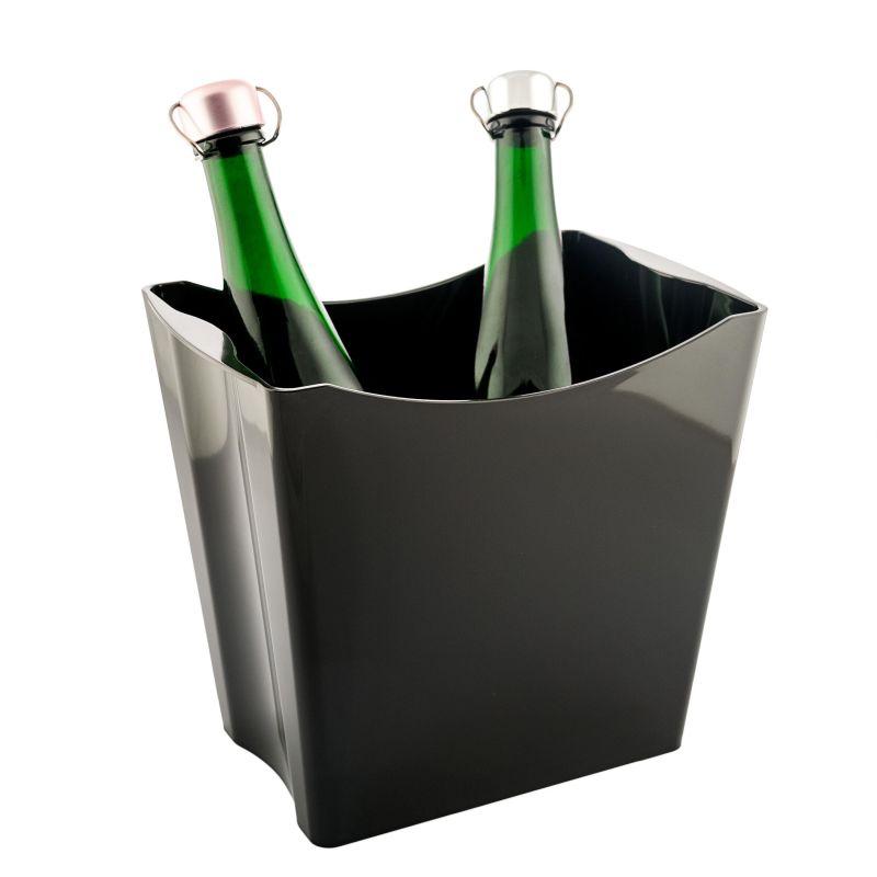 Twins Secchiello porta ghiaccio 2 bottiglie - NERO