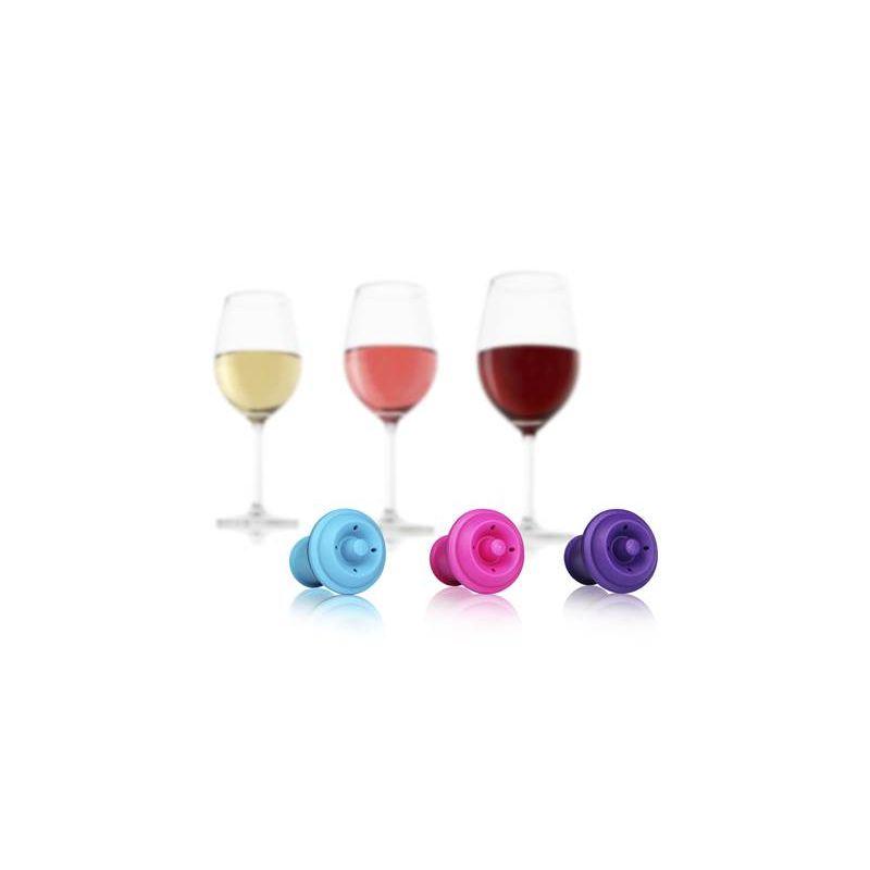 VACUUM WINE STOPPER COLORS VACU VIN - Stopper per Wine Saver Vacu Vin- Dettaglio