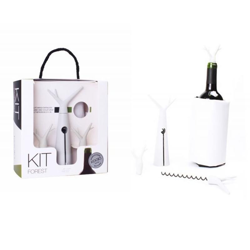 Set accessori vino - Kit forest stone