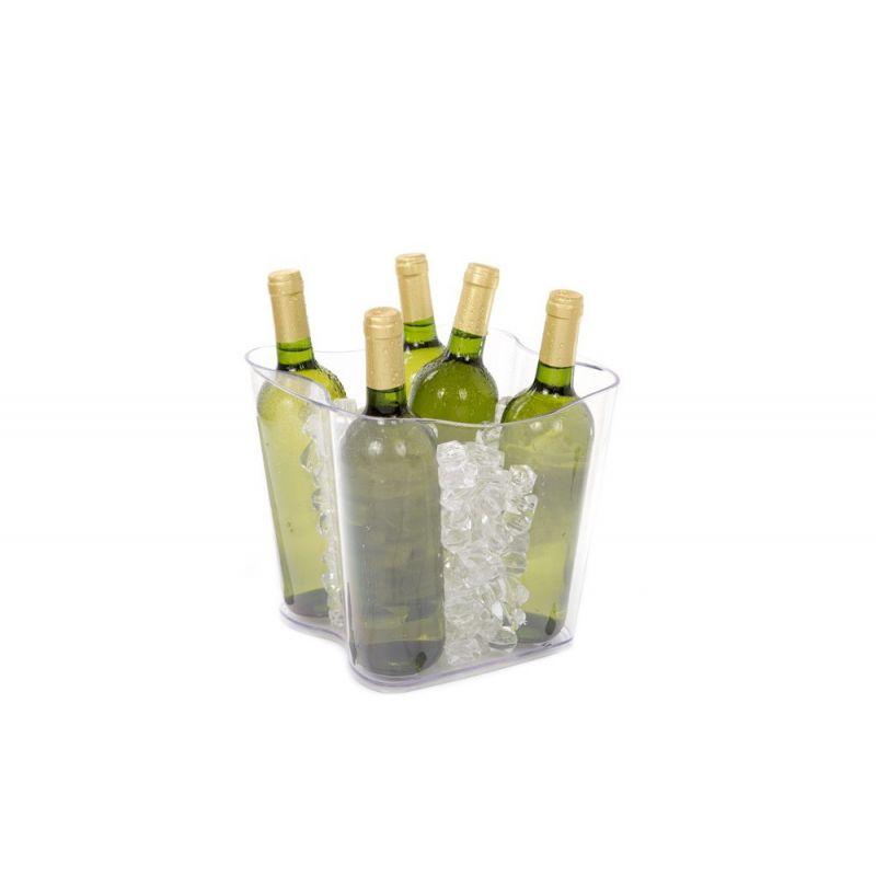 Secchiello porta ghiaccio vino Duna - Trasparente