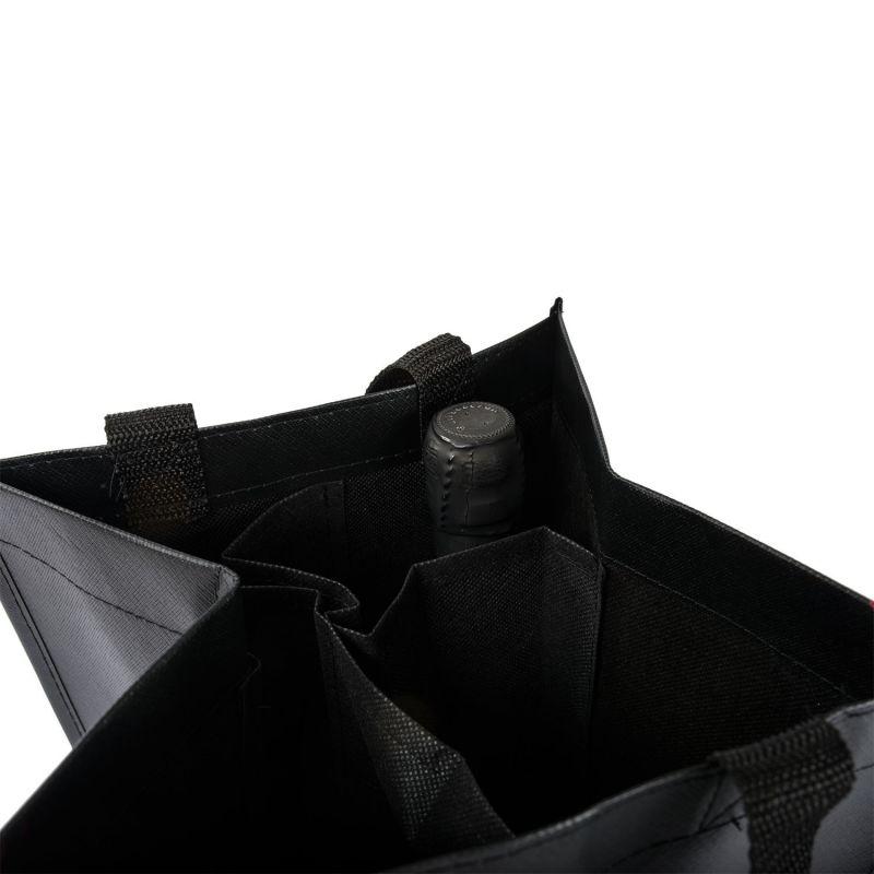 Shopper portabottiglie in TNT • 4 bottiglie • CONF 20 PZ