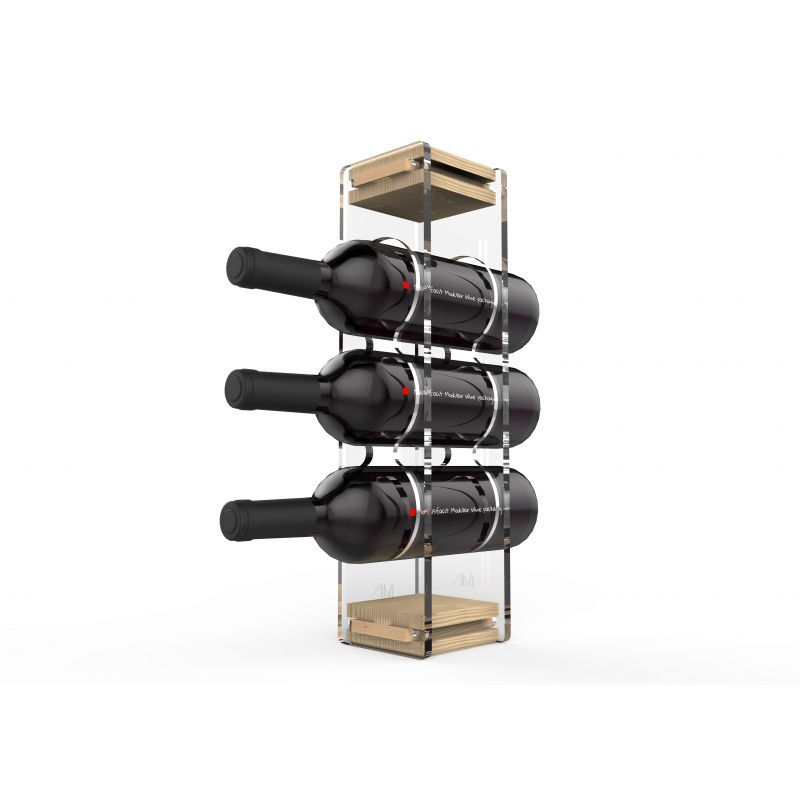 TRIO PLEXI • WINE MODULAR PACKAGIN • ESPOSITORE VINO