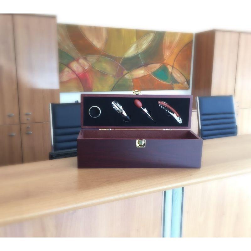 Cassetta Vino con accessori - aperta