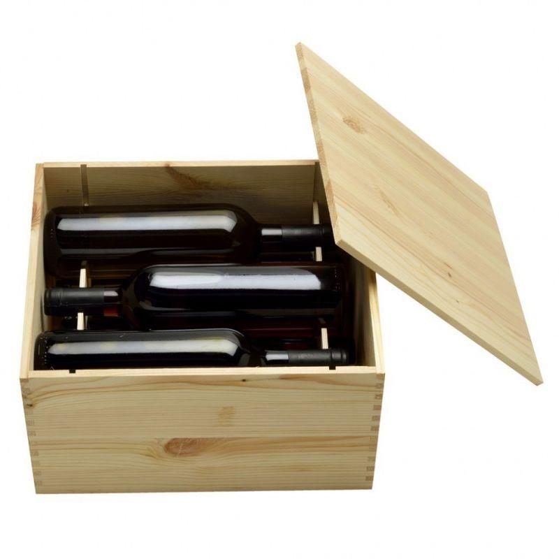 Cassetta in legno per vino inchiodata  6 bottiglie