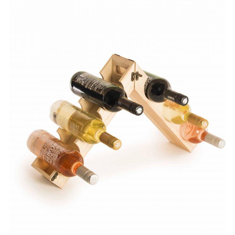 Rackpack Cassetta vino Design - Espositore - aperto