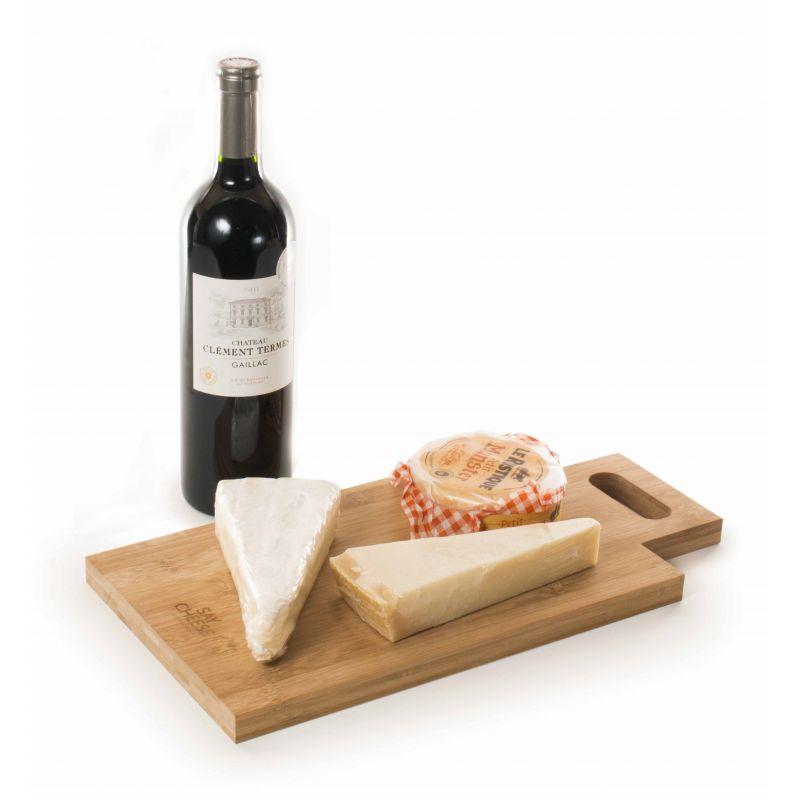 Say Cheese - Cassetta vino 2 bottiglie   con tagliere